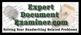 Expert Document Examiner. Expert Witness, Forgery, Faked writing, hot check, criminal case, civil case, handwriting analysis, handwriting in question, questioned documents,